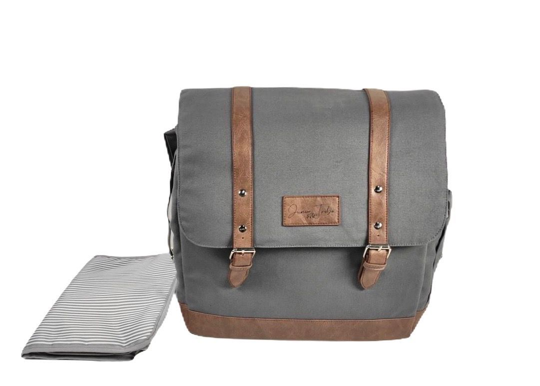 Junior Tribe Co Ultimate Nappy Bag SHOP NAPPY BAGS Slate Grey