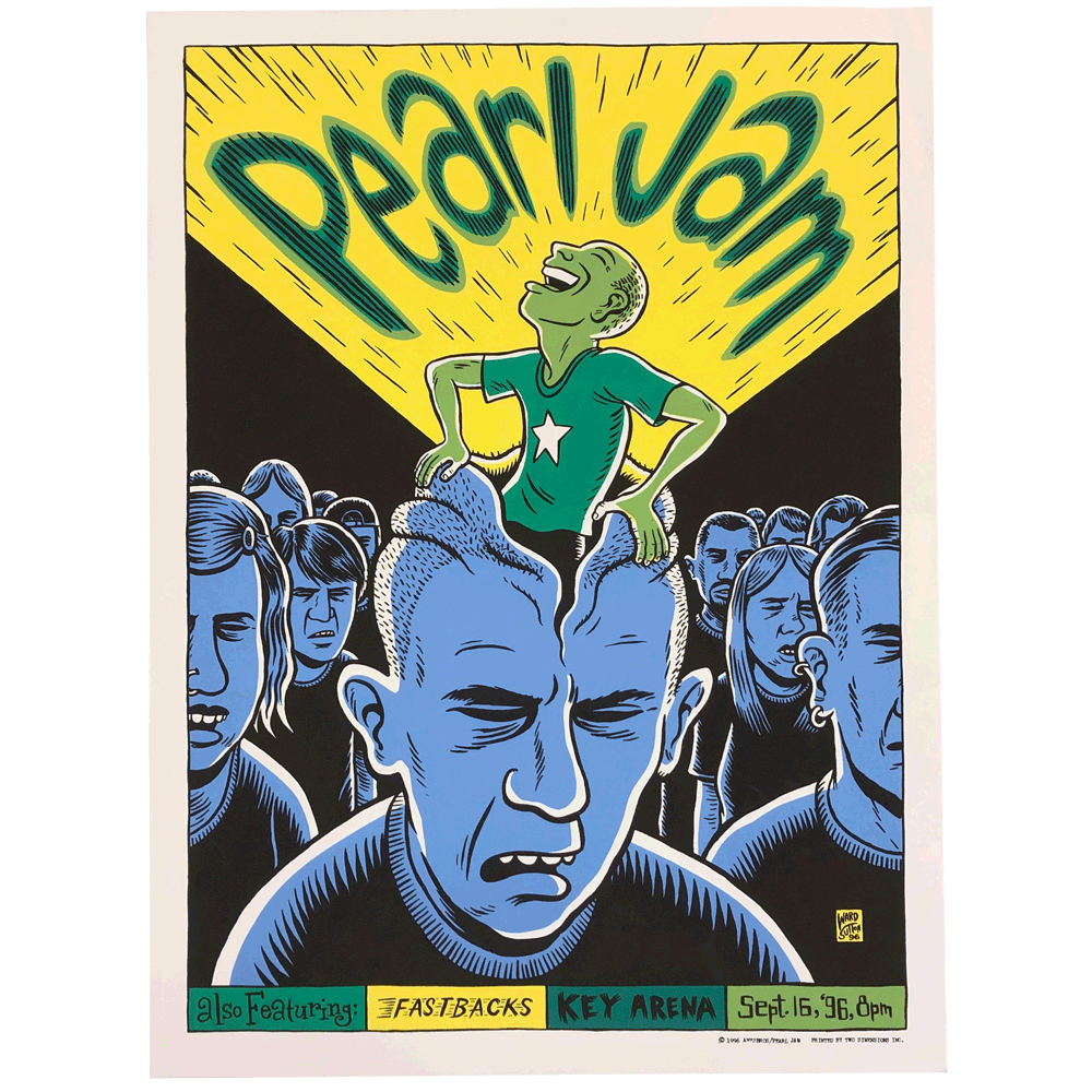 1996 Pearl Jam Seattle Poster