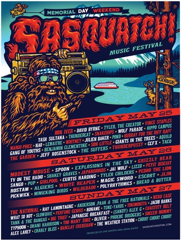 Sasquatch Music Festival 2018 Poster by Ames Bros