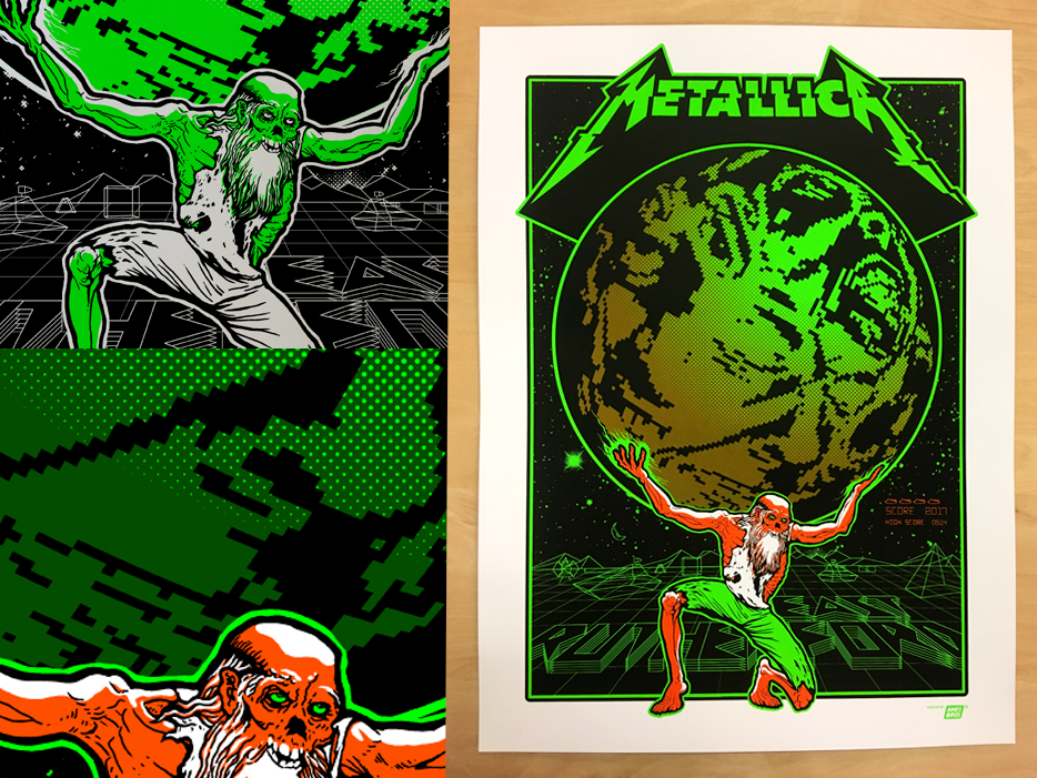 Metallica East Rutherford, NJ Posters