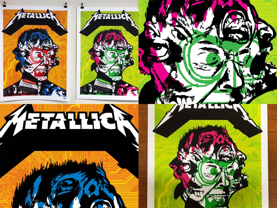 Metallica Webster Hall Poster by Ames Bros