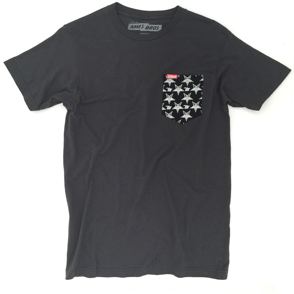 Ames Bros Black Meddle Pocket Tee