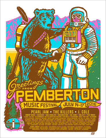 Pemberton Music Festival 2016 Poster - Regular Edition