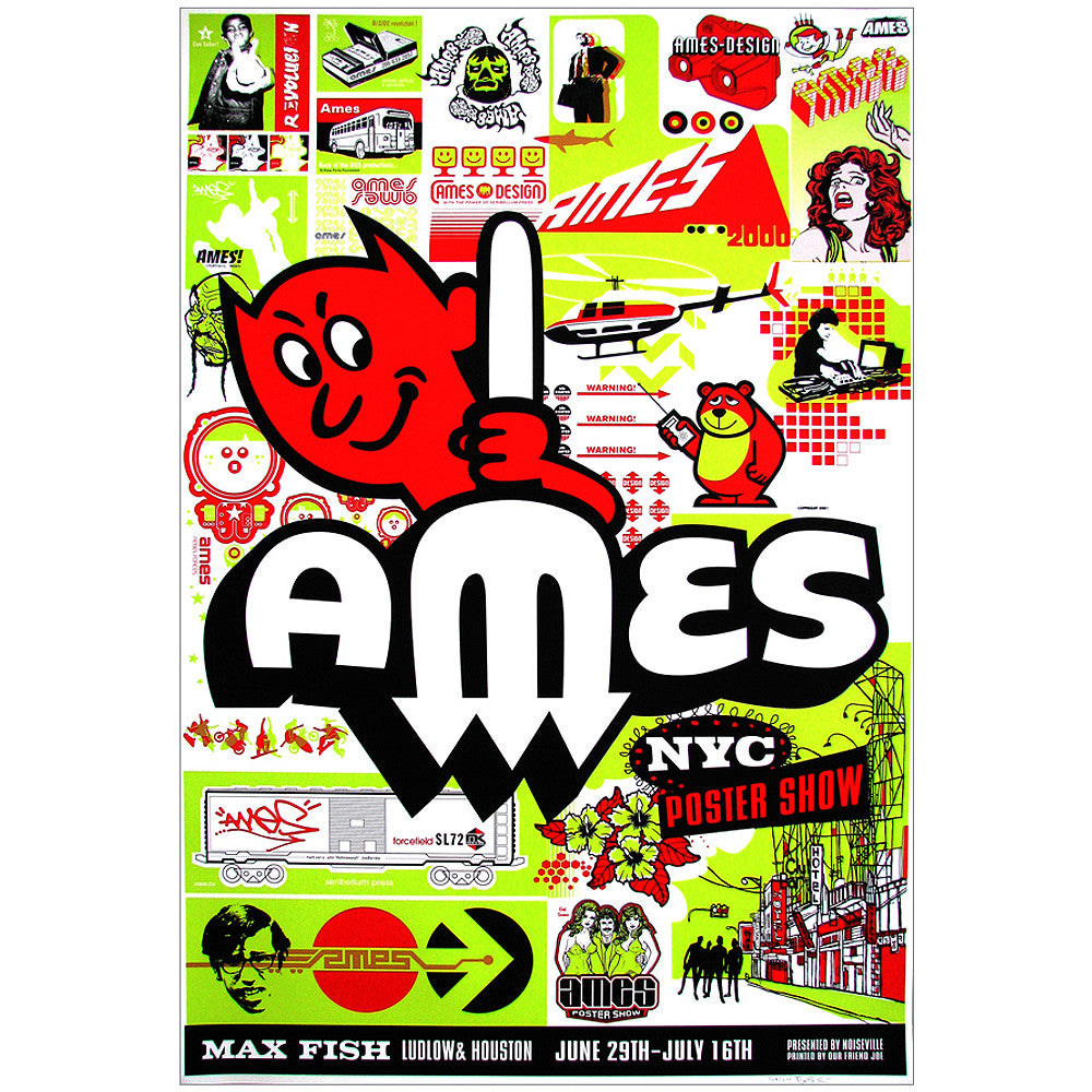 Ames Bros Max Fish NYC 1999 Special Event Poster