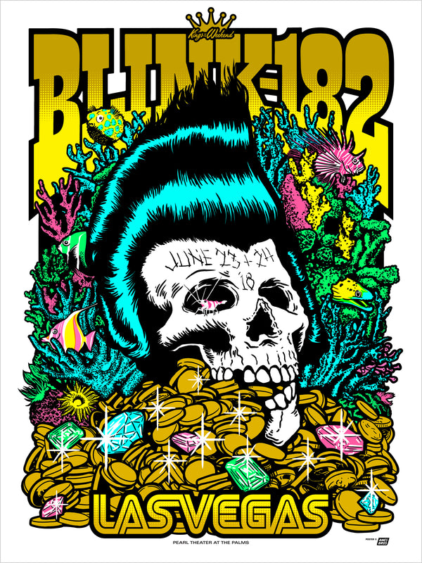 Blink-182 2018 Las Vegas, NV Poster - Tour Edition