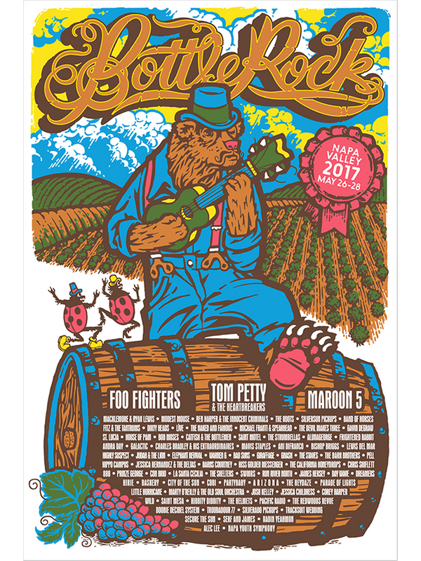 BottleRock 2017 Napa Valley, CA Festival Poster - Regular Edition