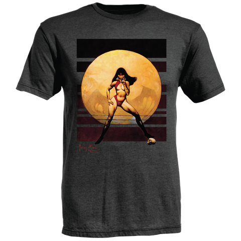 Frazetta by Ames Bros Vampire Woman T-Shirt