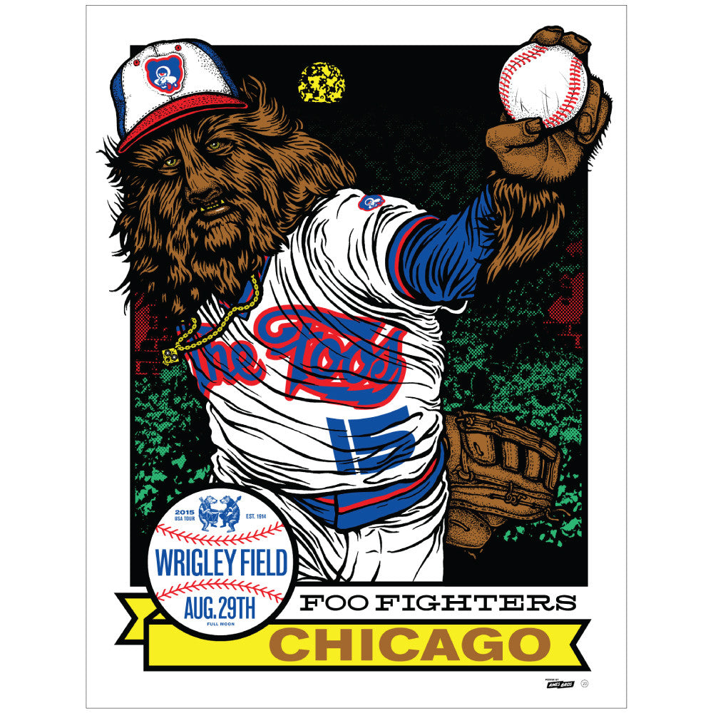 Foo Fighters 2015 Wrigley Field Poster