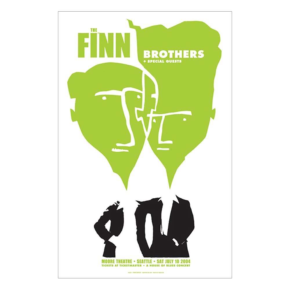 Finn Brothers Seattle 2004 Concert Poster