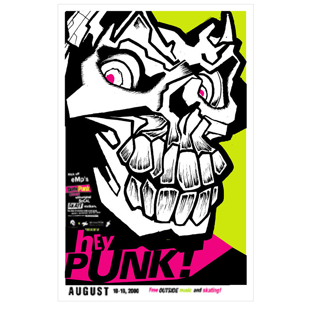 Hey Punk! 2000 Seattle, WA Concert Poster
