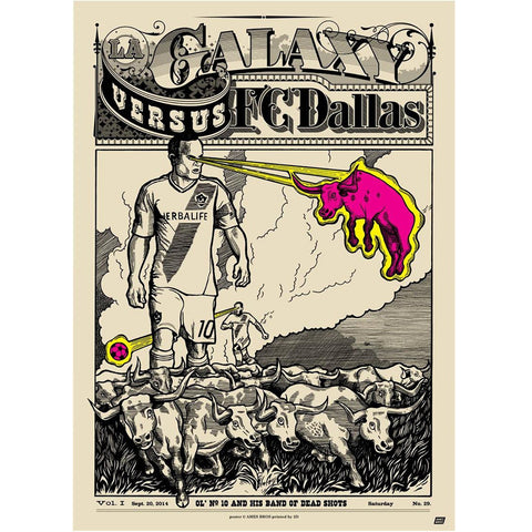 LA Galaxy vs FC Dallas Poster