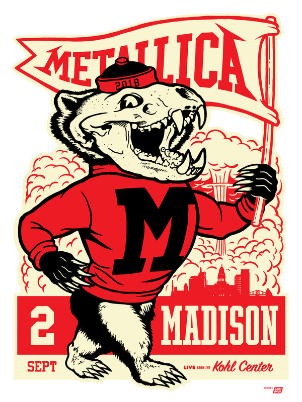 Metallica 2018 Metallica, WI Poster - Regular Edition