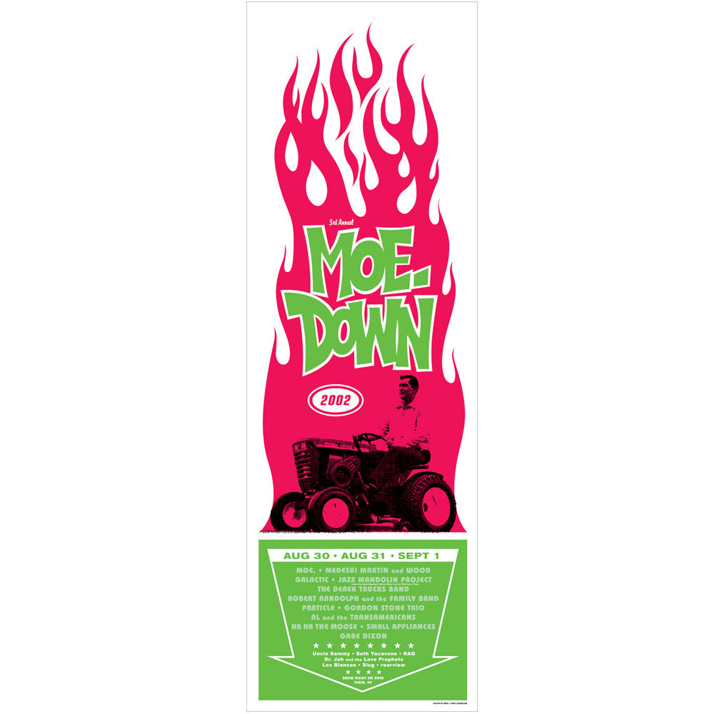 moe. moe.down Festival  'Turin, NY' 2003 Poster