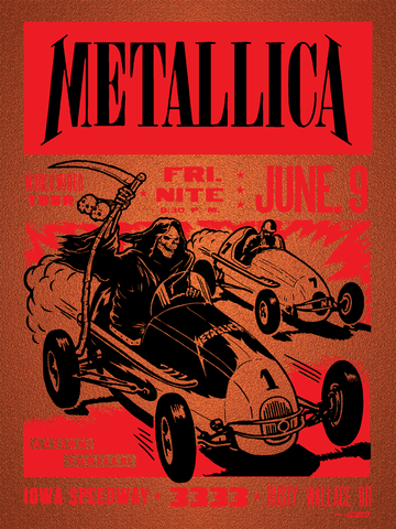 Metallica Iowa Speedway Poster Copper Edition of 70
