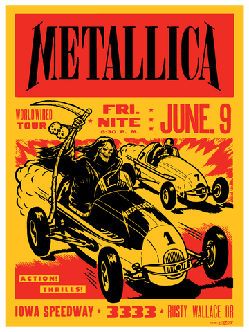 Metallica - 2017 Iowa Speedway Newton, IA Poster - Tour Edition