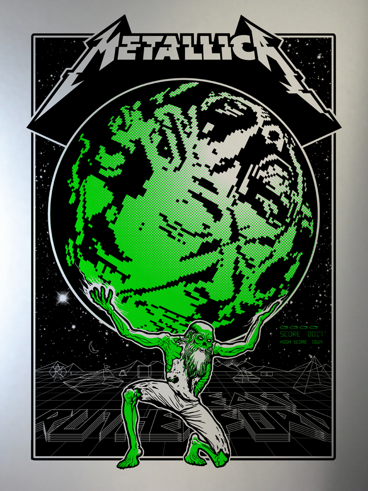 Metallica East Rutherford, NJ Poster - Chrome Edition