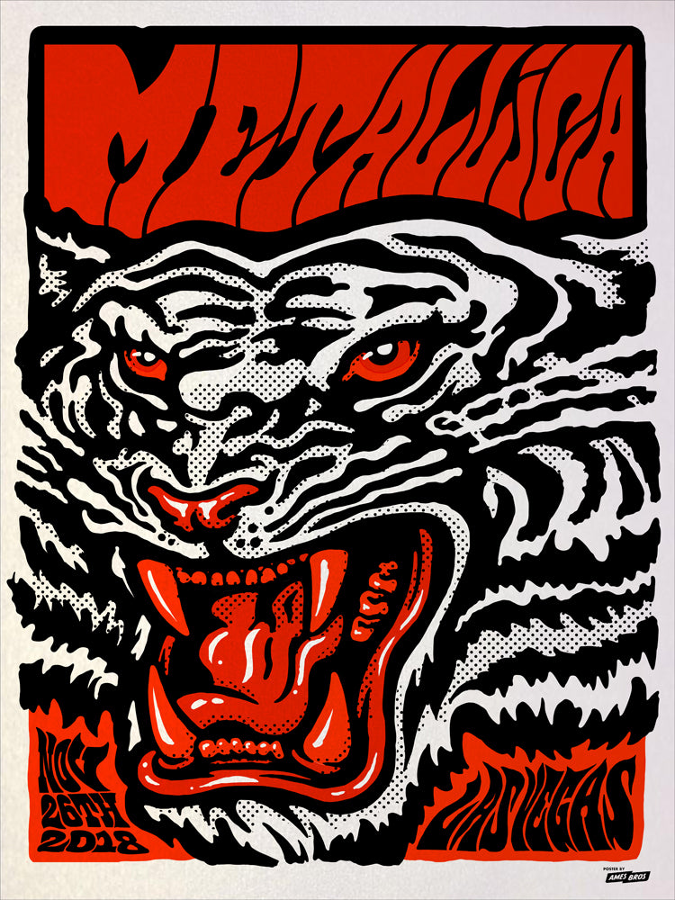 Metallica 2018 Las Vegas, NV Poster - Blood on Red Variant