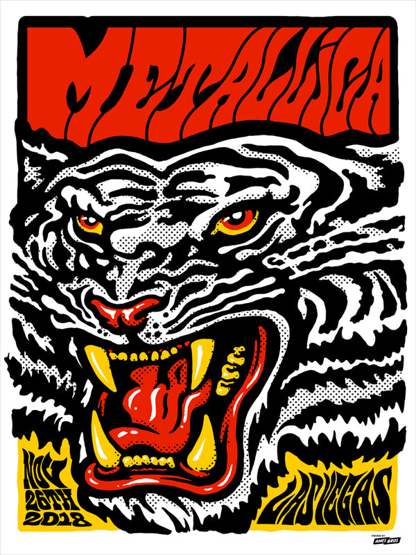 Metallica 2018 Las Vegas, NV Poster - Regular Edition