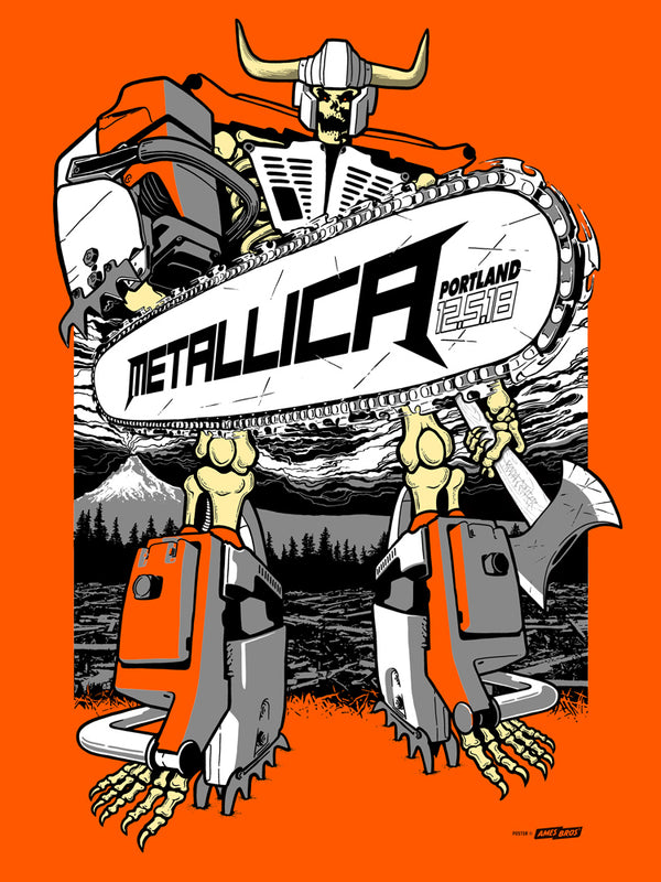 Metallica 2018 Portland, OR Poster - Hot Shot Edition