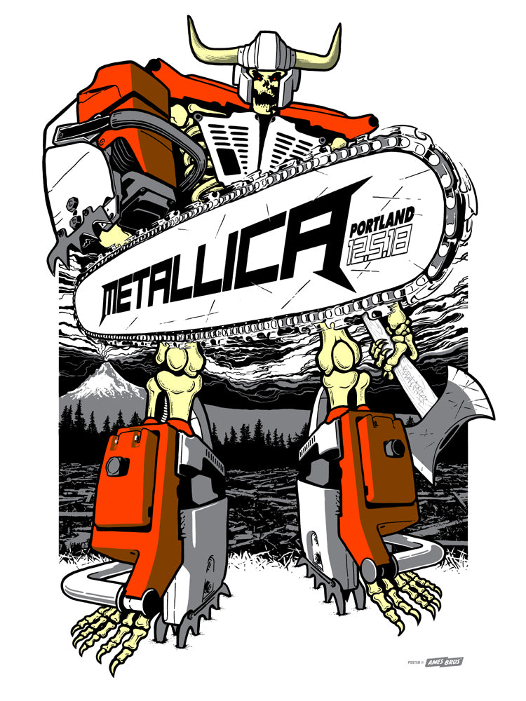 Metallica 2018 Portland, OR Poster - Tour Edition