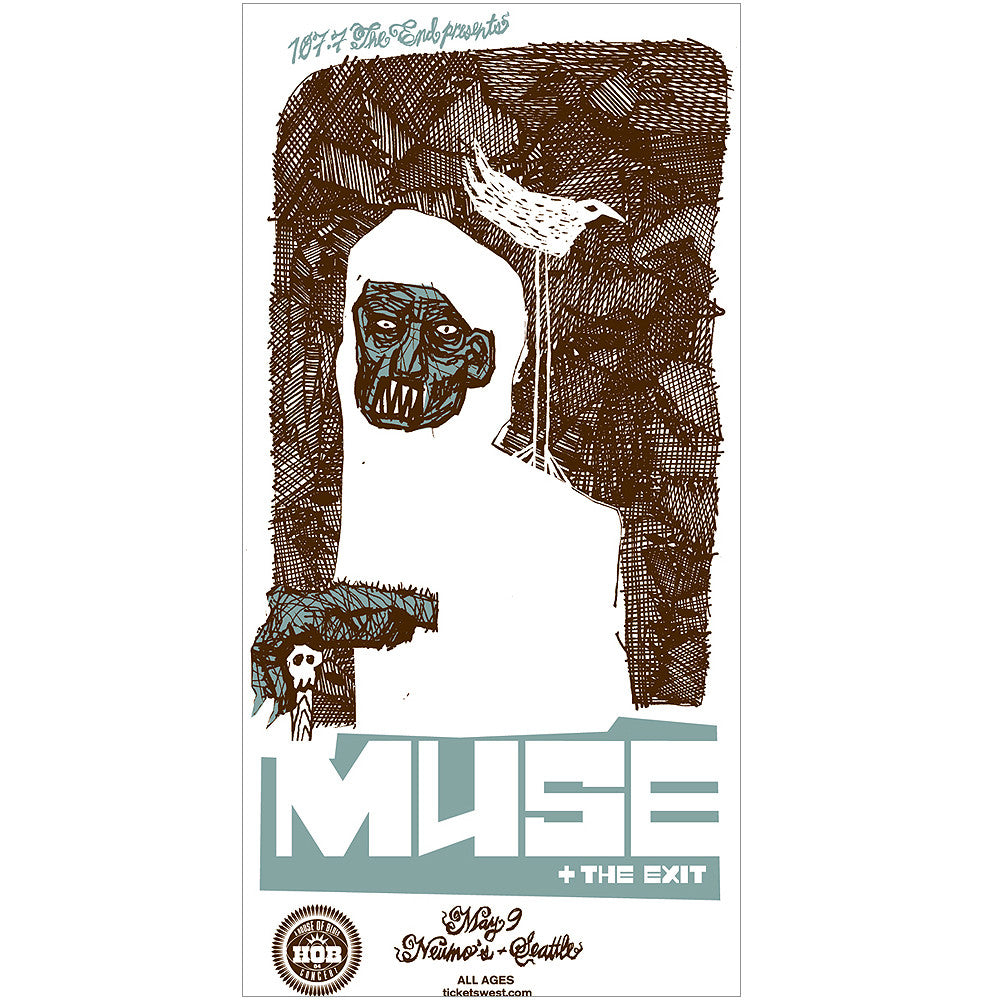 Muse Seattle 2004 Concert Poster