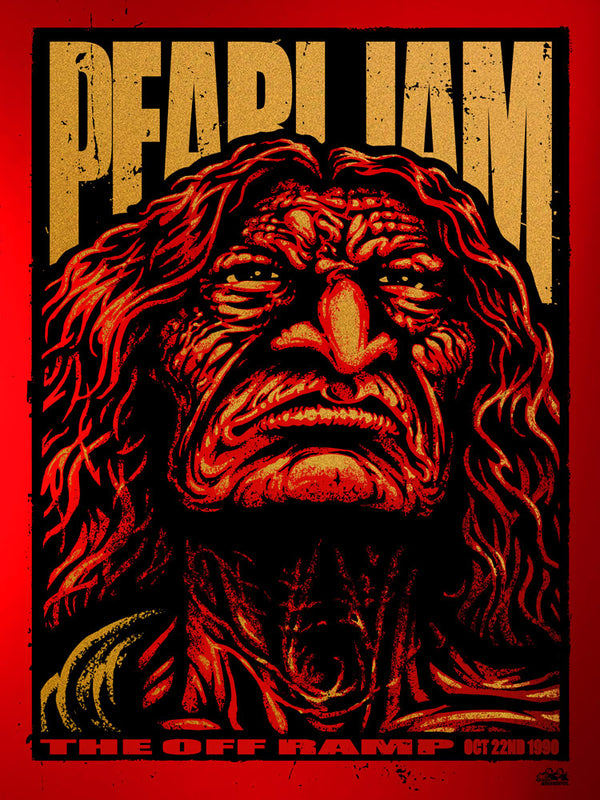 Pearl Jam Off Ramp 1990 Variant Poster