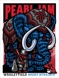 "Pearl Jam Chicago Wrigley Field 2018 Poster ""Harry Caray"" Edition"