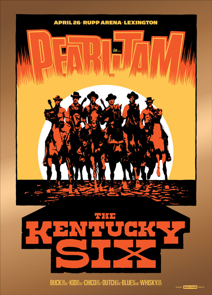 "Pearl Jam 2016 Lexington ""Whisky"" Metallic Edition Poster + Bonus Print"