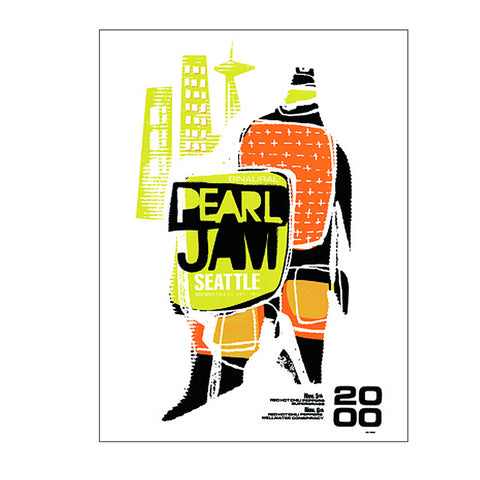 Pearl Jam 2000 Seattle Concert Poster
