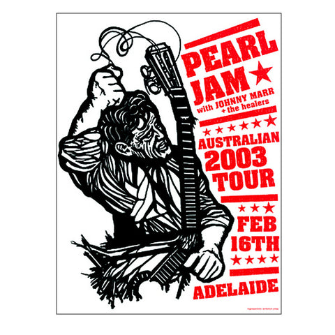 Pearl Jam 2003 Adelaide Concert Poster