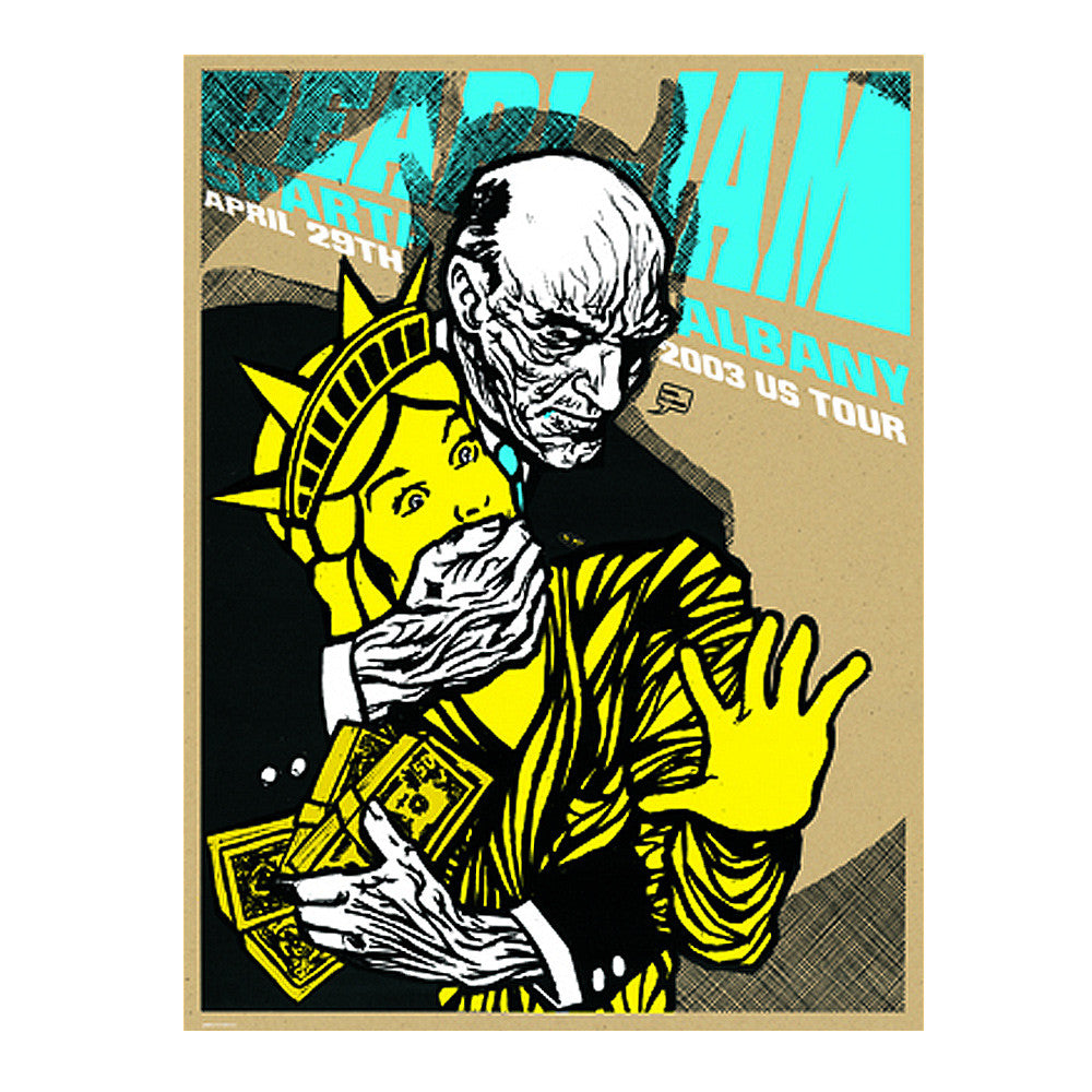 Pearl Jam 2003 Albany Concert Poster