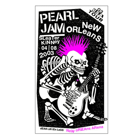 Pearl Jam 2003 New Orleans Poster