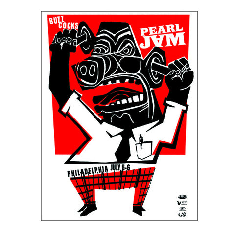 Pearl Jam 2003 Philly 2nd Night Poster