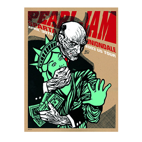 Pearl Jam 2003 Uniondale Poster