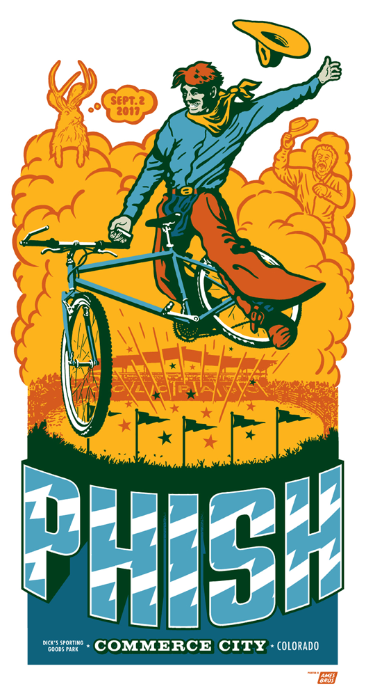 Phish 2017 Commerce City, CO Poster 2nd night