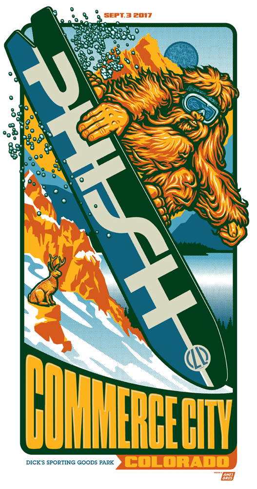 Phish 2017 Commerce City, CO Poster 3rd night