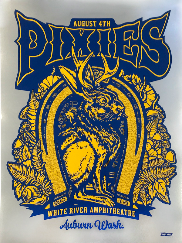 Pixies 2018 Auburn, WA Poster - Chrome Foil Edition