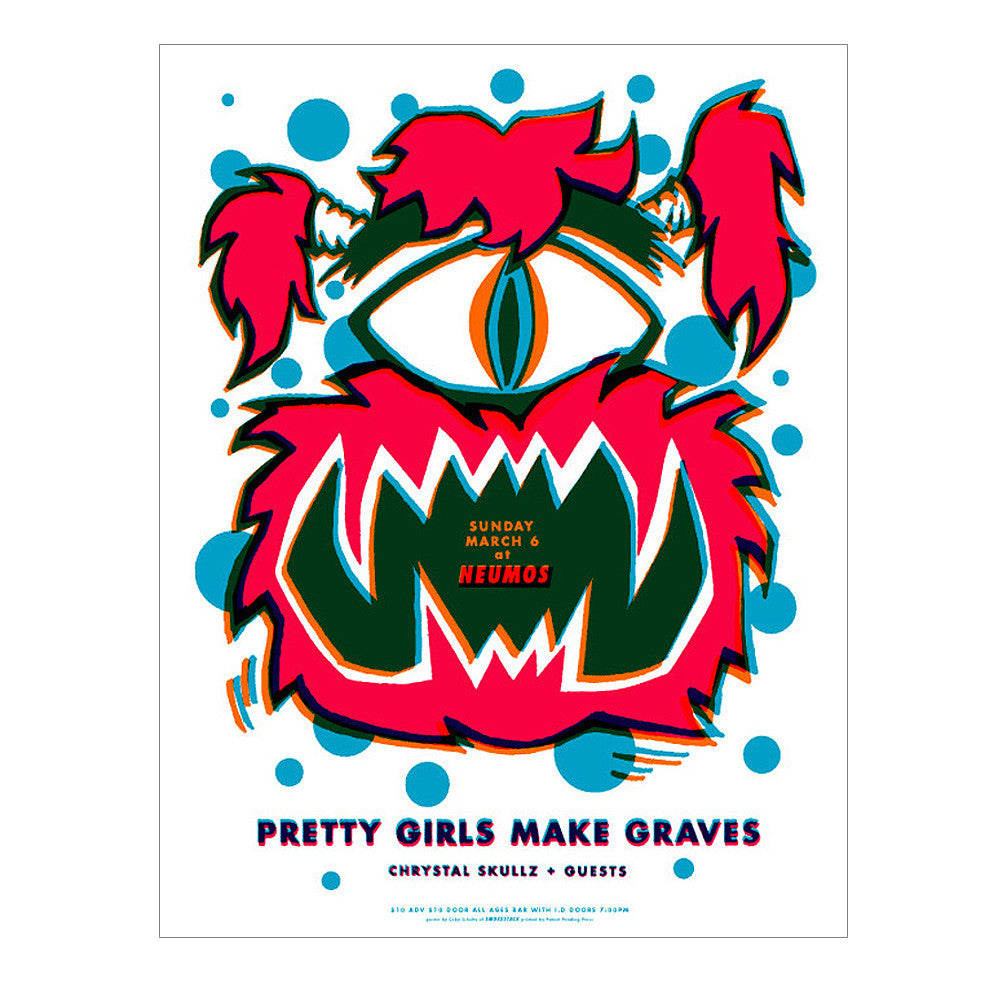 Pretty Girls Make Graves 2004 Seattle Poster
