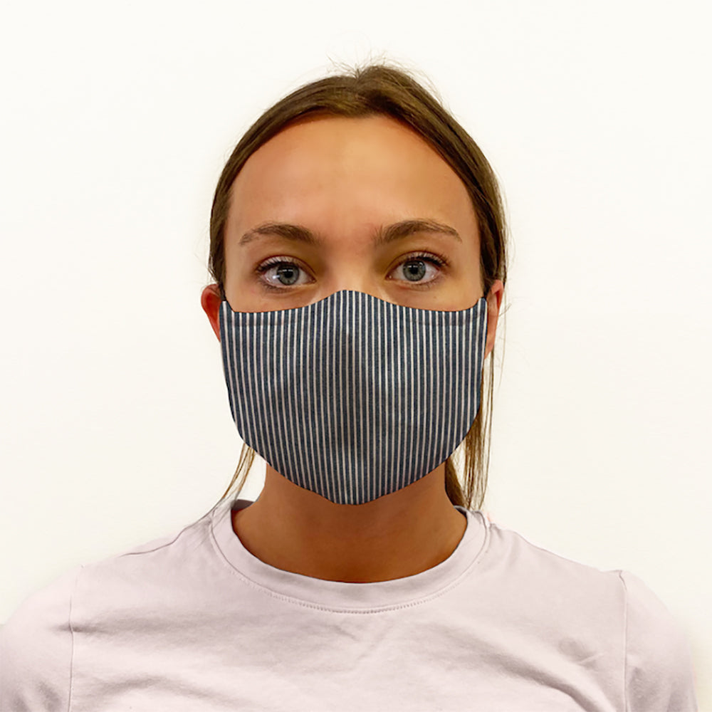 Railroad Denim 3-Layer Mask