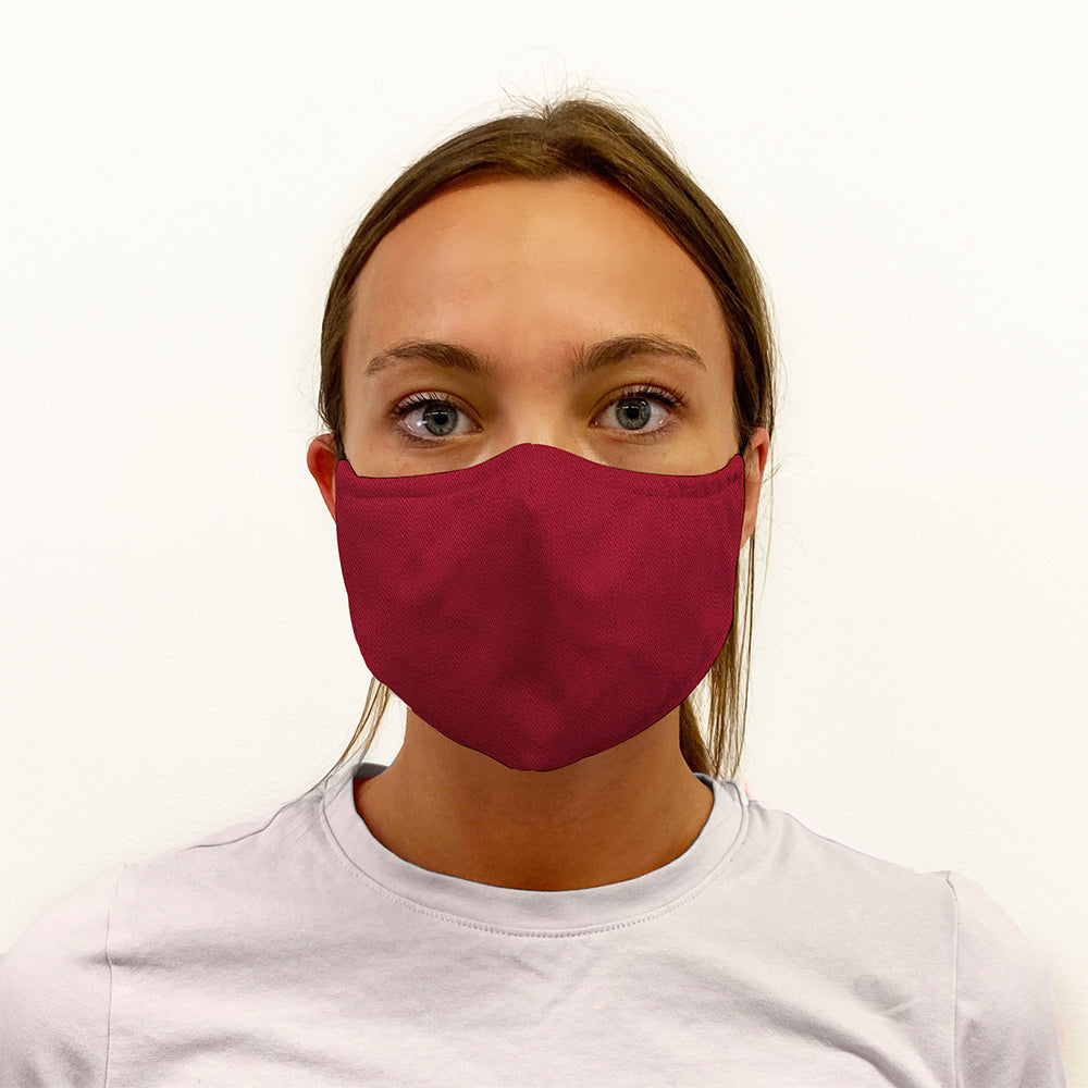Red Twill 3-Layer Mask
