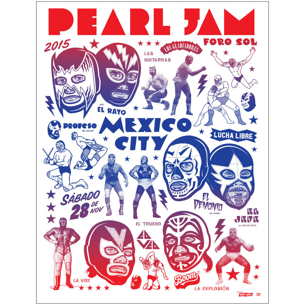 Pearl Jam Mexico City Concert Poster