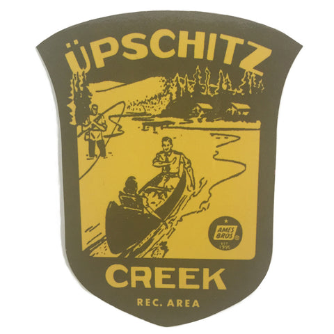 Upschitz Creek Sticker