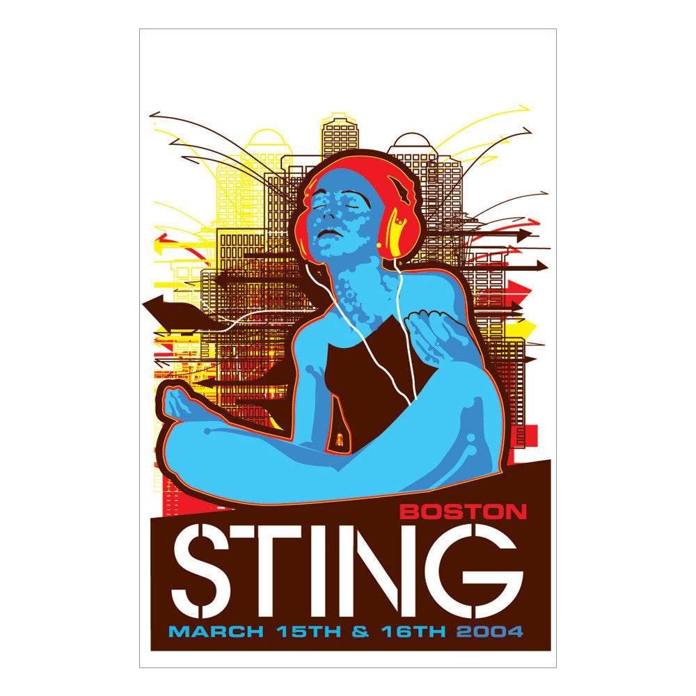 Sting Poster 2004 Boston Poster