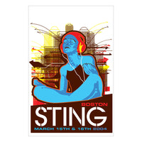 Sting 2004 Boston, MA Poster