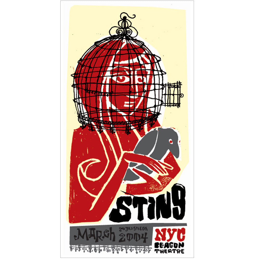 Sting Poster 2004 NYC Poster