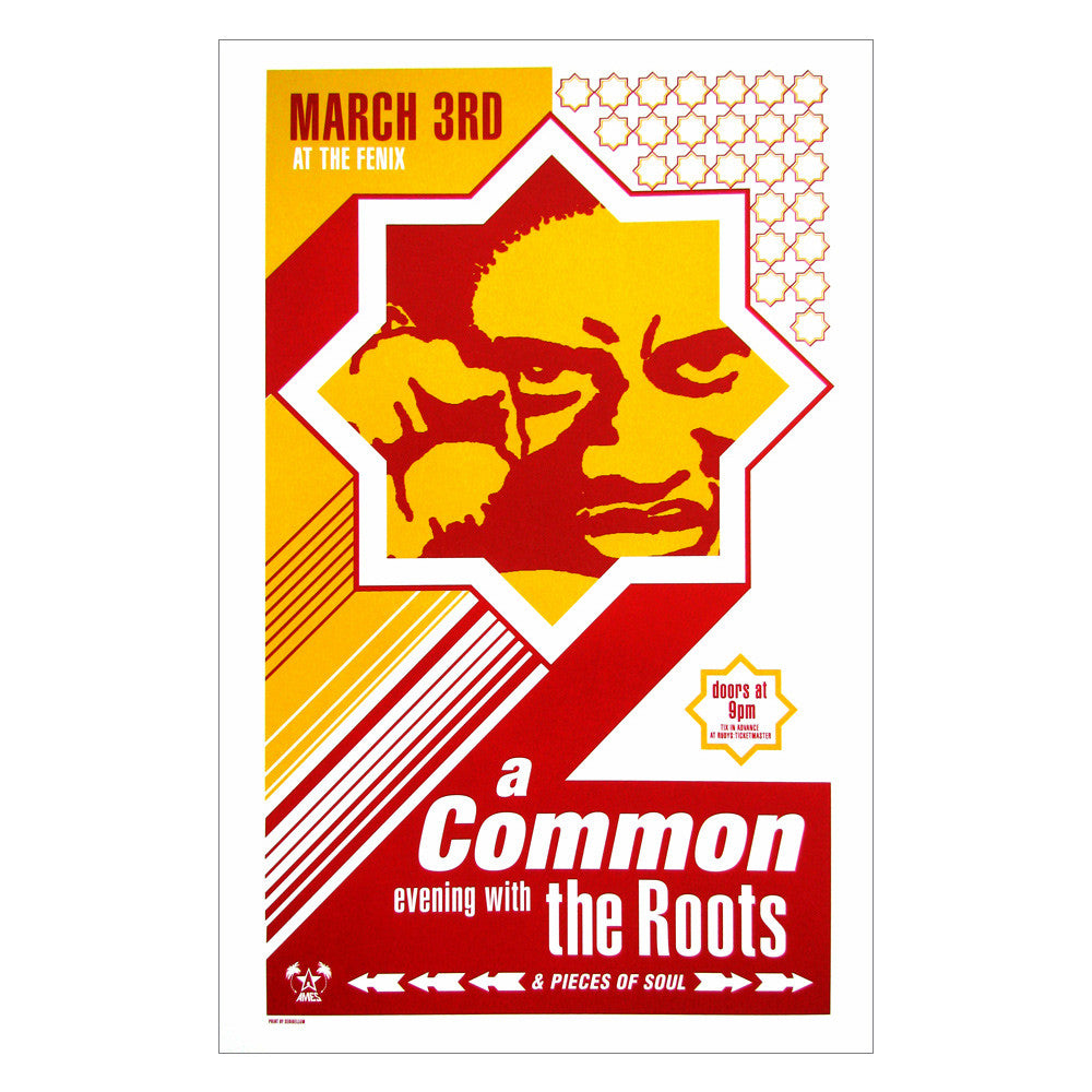 The Roots & Common 1998 Seattle (at the Fenix) Poster