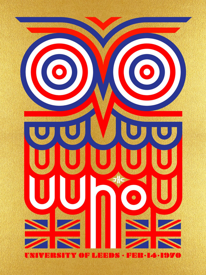 The Who LEEDS 2-15-1970 Poster - Gold Owl Edition Variant