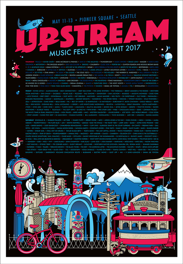 Upstream Music Festival + Summit 2017 Poster