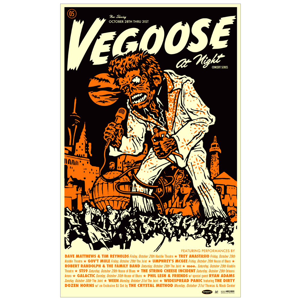 Vegoose at Night Festival 2005 Poster
