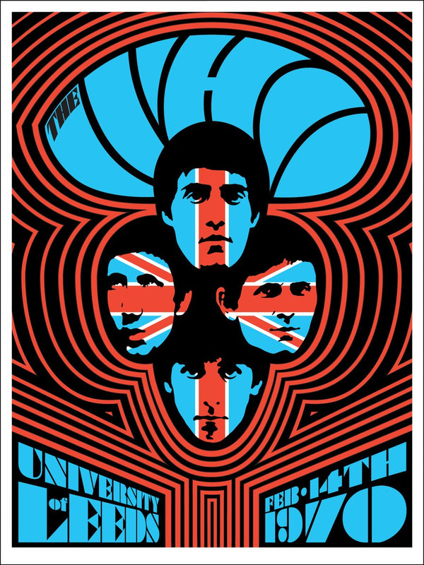 The Who LEEDS #2 1970 Poster